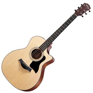 Taylor 314ce grand auditorium electro-acoustic guitar on a white background