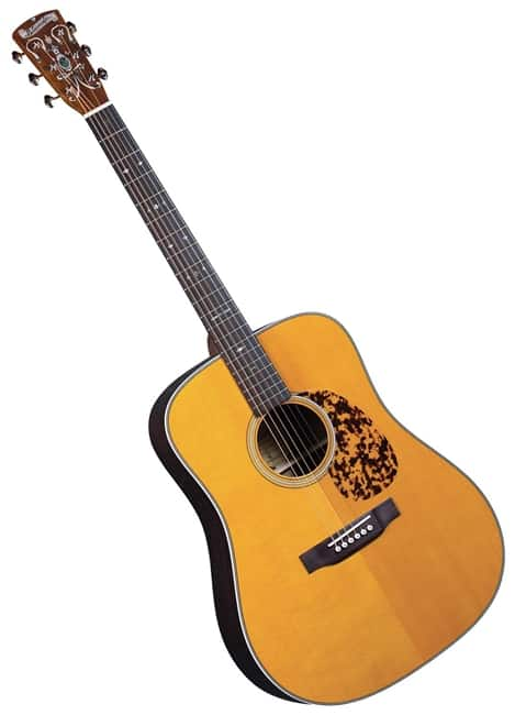 Blueridge br-160 acoustic guitar on a white background
