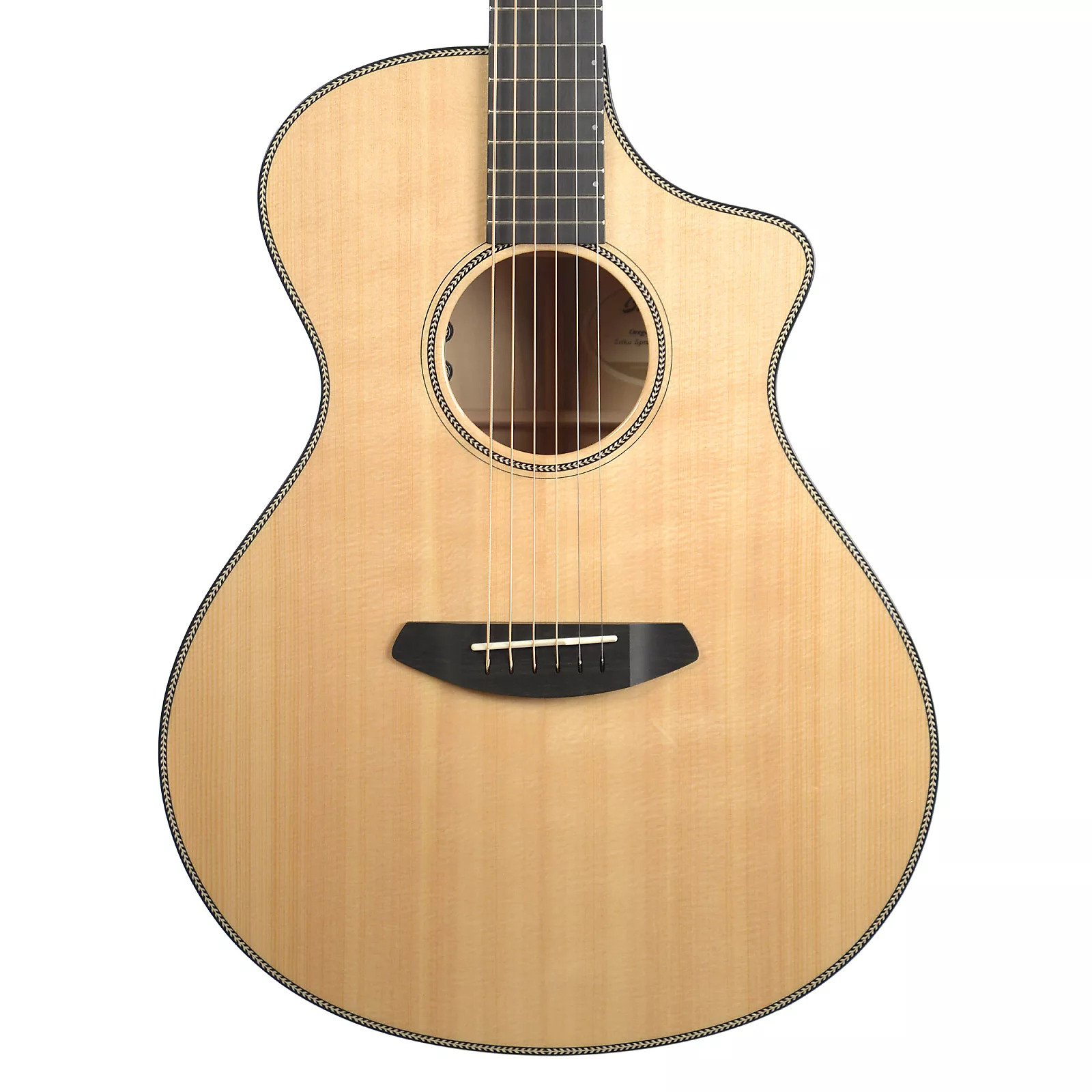 breedlove oregon concert ce guitar on a white background